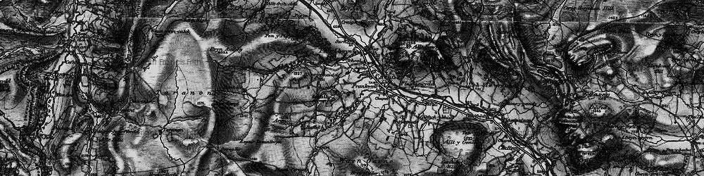 Old map of Afon Cerniog in 1899