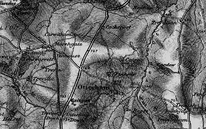 Old map of Caroe in 1895