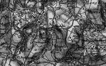 Old map of Carpalla in 1895