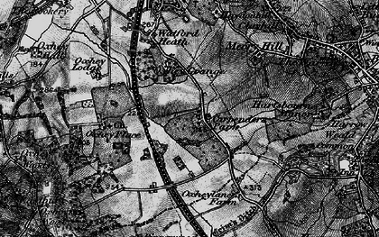 Old map of Carpenders Park in 1896
