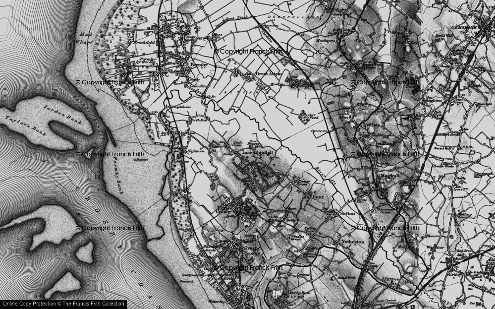 Old Map of Historic Map covering Baines Bridge in 1896