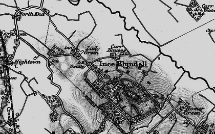 Old map of Baines Bridge in 1896