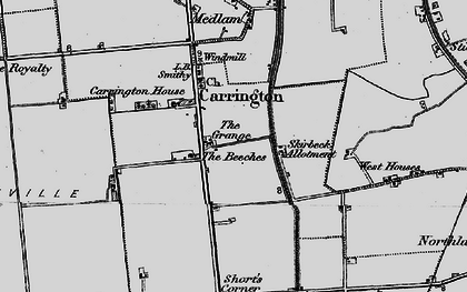 Old map of Barkers Yard in 1899