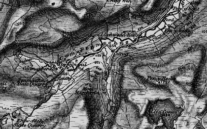 Old map of Cwm Penmachno in 1899