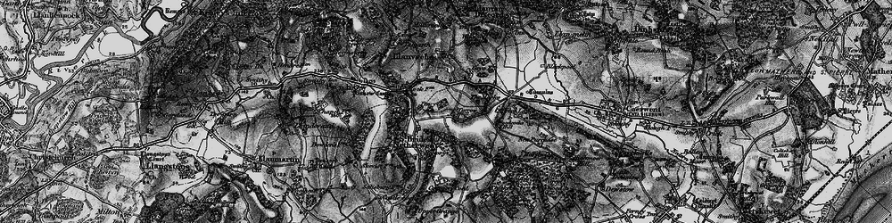 Old map of Carrow Hill in 1897