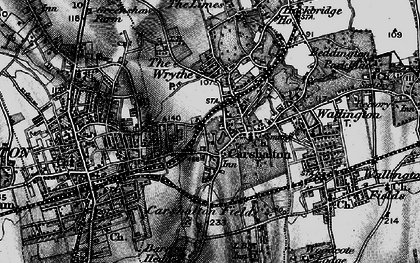Old map of Carshalton in 1896