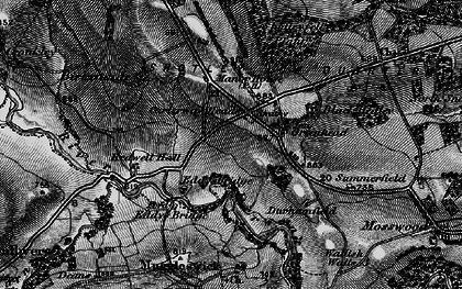 Old map of Carterway Heads in 1898