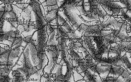 Old map of Carthew in 1896