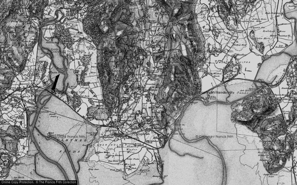 Old Map of Cartmel, 1898 in 1898