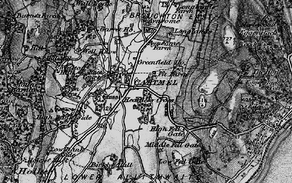 Old map of Cartmel in 1898