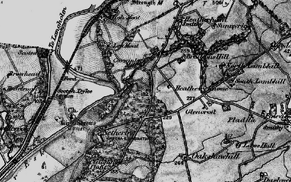 Old map of Willow Pool in 1897