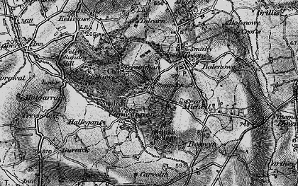 Old map of Carwynnen in 1896