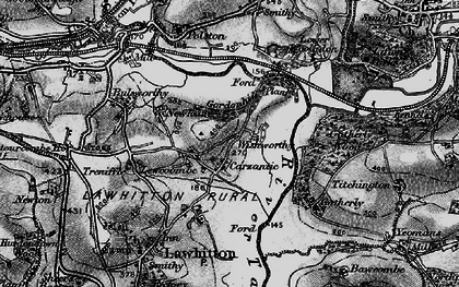 Old map of Wishworthy in 1896