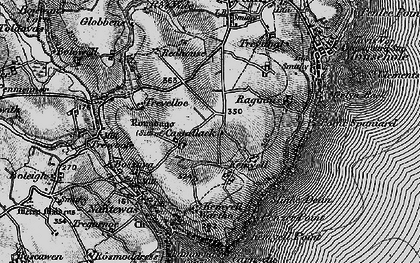Old map of Castallack in 1895