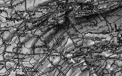 Old map of Castell-y-rhingyll in 1898