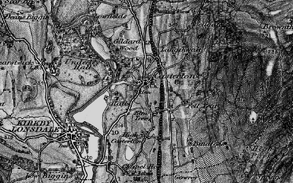 Old map of Langthwaite in 1898