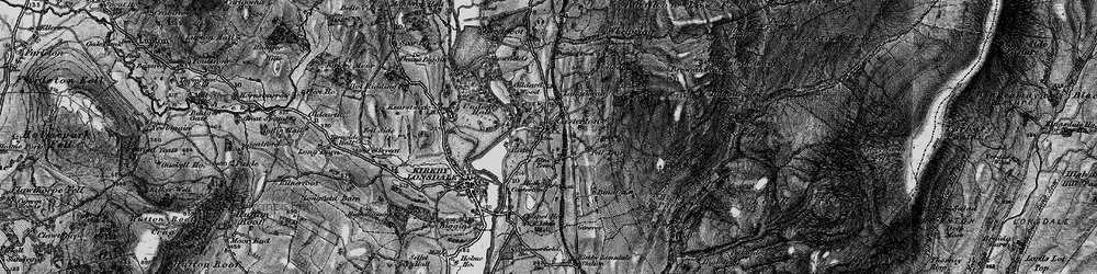 Old map of Whittle Hole in 1898