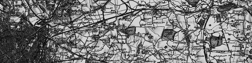 Old map of Castle Bromwich in 1899