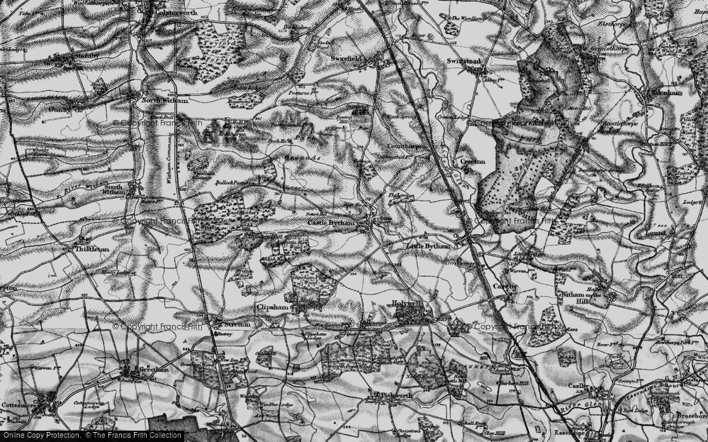 Old Map of Castle Bytham, 1895 in 1895