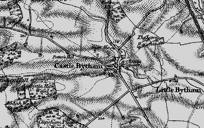 Old map of Castle Bytham in 1895