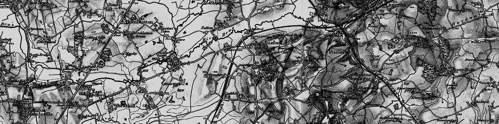 Old map of Castle Cary in 1898