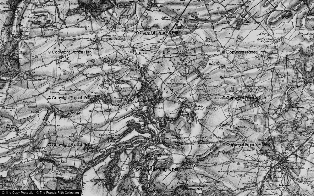 Old Map of Castle Combe, 1898 in 1898