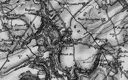 Old map of Castle Combe in 1898