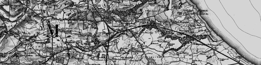 Old map of Castle Eden in 1898