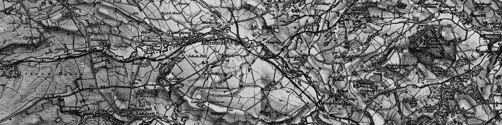Old map of Castle Green in 1896
