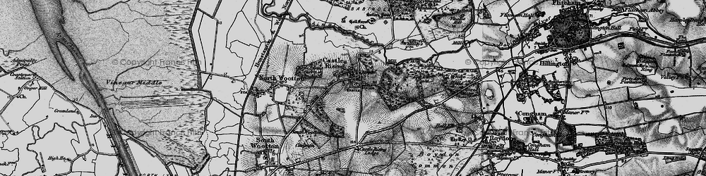 Old map of Castle Rising in 1893