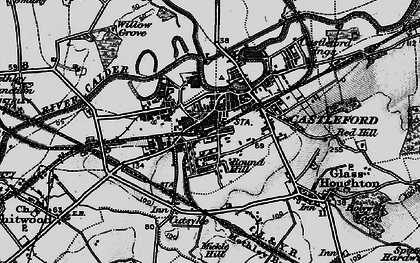 Old map of Castleford in 1896