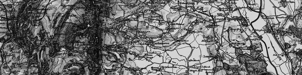 Old map of Castlemorton in 1898