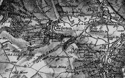 Old map of Limestone Way in 1896