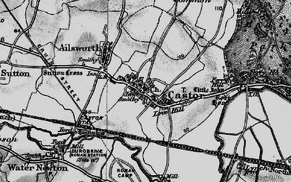 Old map of Castor in 1898