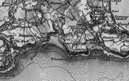 Old map of Caswell Bay in 1897