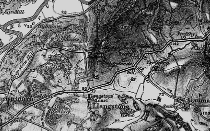 Old map of Cat's Ash in 1897