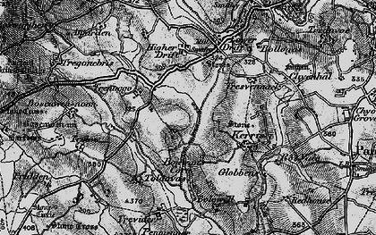 Old map of Catchall in 1895