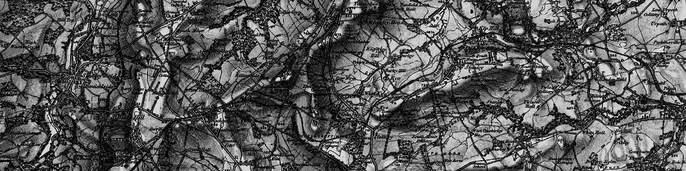 Old map of Catchgate in 1898
