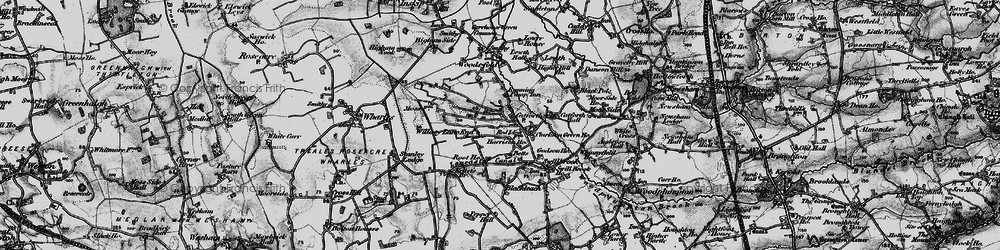 Old map of Catforth in 1896
