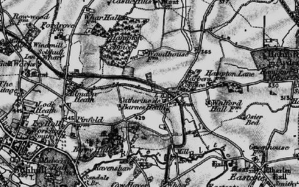 Old map of Barber's Coppice in 1899