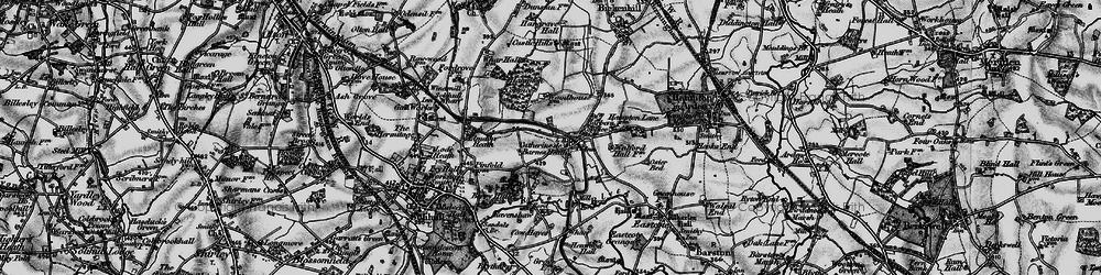Old map of Catherine-de-Barnes in 1899