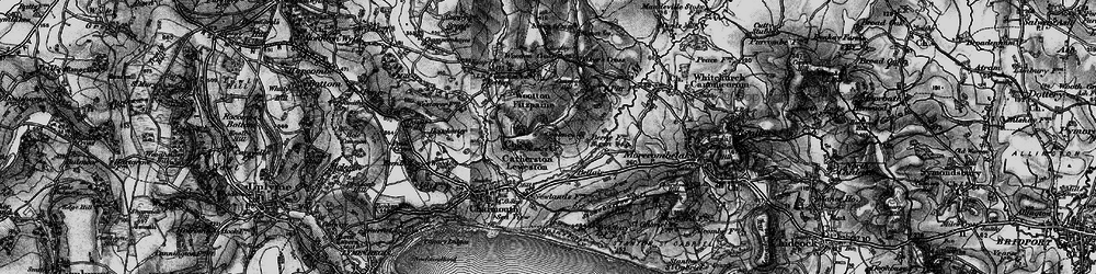 Old map of Wootton Cross in 1898