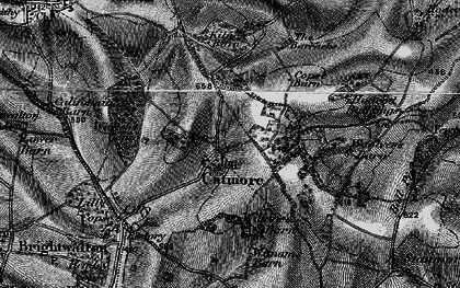 Old map of Catmore in 1895