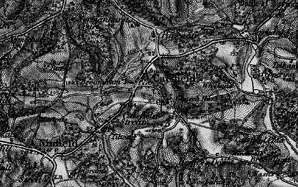 Old map of Catsfield in 1895