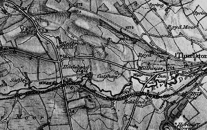Old map of Catshaw in 1896