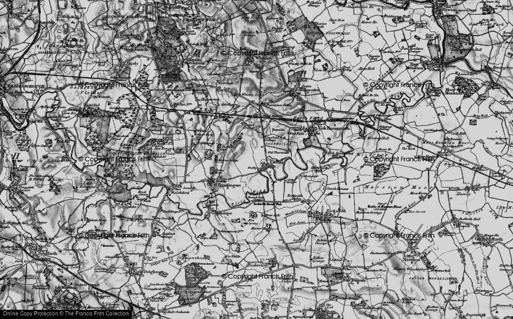 Old Map of Historic Map covering Lingfield Cottage in 1898