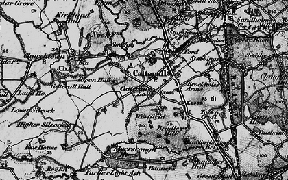Old map of Westfield in 1896