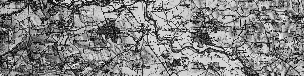 Old map of Catterick in 1897