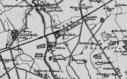 Old map of Leys in 1898