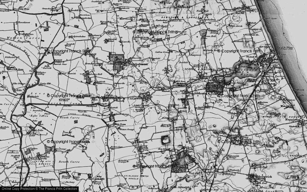 Old Map of Catwick, 1897 in 1897